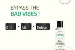 Remove bad smell with Cipher Odour Neutralizer and Air Freshener